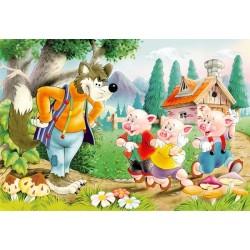 Puzzle A három kismalac és a farkas - GYEREK PUZZLE