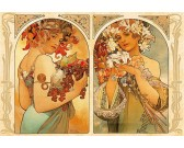 Puzzle Alfons Mucha - Gyümölcsök és virágok