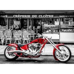 Puzzle Piros motorkerékpár