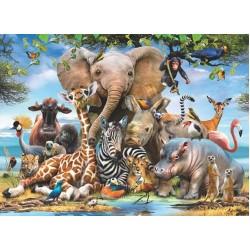 Puzzle Vidám állatkák