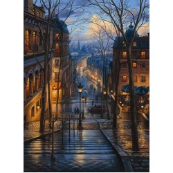 Puzzle Utca Montmartre-ban, Párizs