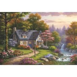 Puzzle Házikó a vízesésnél