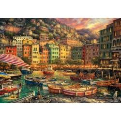 Puzzle Cinque Terre kikötője