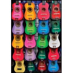 Puzzle Színes gitárok