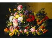 Puzzle Gyümölcsök és virágok - csendélet