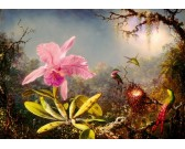 Puzzle Orchidea és három hummingbirds