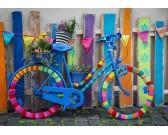 Puzzle Színes kerékpár