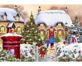 Puzzle Karácsonyi házikó