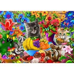Puzzle Játékos cicák