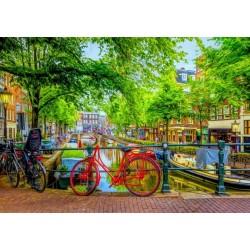 Puzzle Kerékpár Amszterdamban