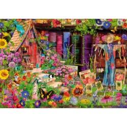 Puzzle Madárijesztő a kertben