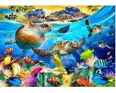 Puzzle Teknősök a tengerparton
