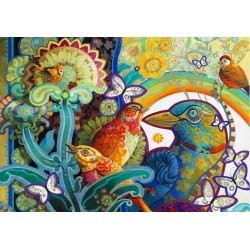 Puzzle Színezett madarak