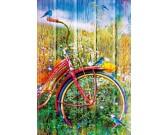 Puzzle Piros kerékpár