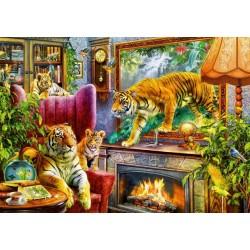 Puzzle Élő kép - tigrisek
