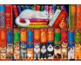 Puzzle Könyvek macskákról