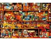 Puzzle Játékokkal teli polcok