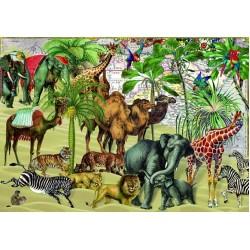 Puzzle Állatok sivatagban