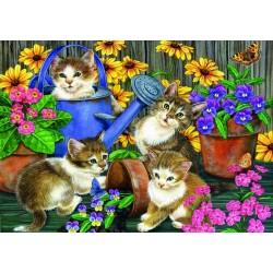 Puzzle Macskák a kertben