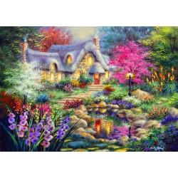 Puzzle Tó melletti kunyhó
