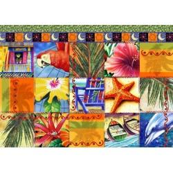 Puzzle Trópusi mozaik