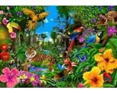Puzzle Színes dzsungel