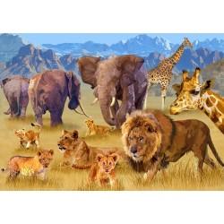 Puzzle Az afrikai szavanna állatai