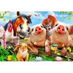 Puzzle Állatok a farmon - GYEREK PUZZLE