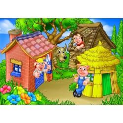 Puzzle Három kismalac - GYEREK PUZZLE