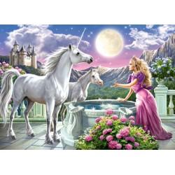 Puzzle Hercegnő az egyszarvúival - GYEREK PUZZLE