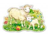 Puzzle Bárányok a mezőn - MAXI PUZZLE