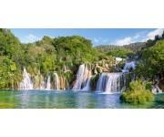 Puzzle Krk vízesések, Horvátország - PANORAMATIKUS PUZZLE