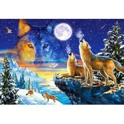 Puzzle Üvöltő farkasok