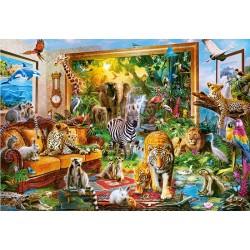 Puzzle Élő kép - dzsungel