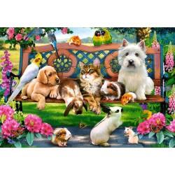 Puzzle Állatok a parkban