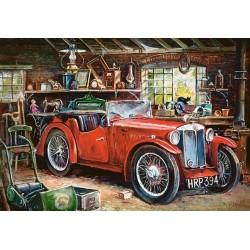 Puzzle Veterán a garázsban