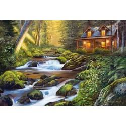 Puzzle Házikó a folyón