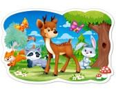 Puzzle Kisfiú és barátai az erdőből - GYEREK PUZZLE