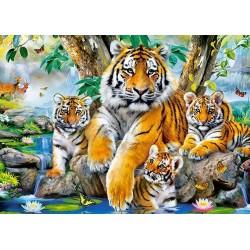 Puzzle Tigrisek a vízesésnél - GYEREK PUZZLE