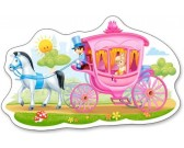 Puzzle Hercegnő a lovaskocsiban - GYEREK PUZZLE