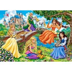 Puzzle Hercegnők a kertben - GYEREK PUZZLE
