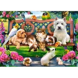 Puzzle Állatok a parkban - GYEREK PUZZLE