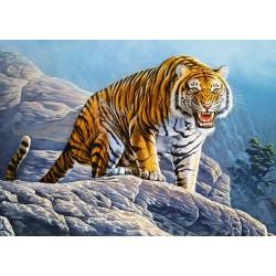 Puzzle Tigris egy sziklán - GYEREK PUZZLE