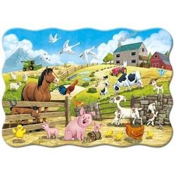 Puzzle Állatkák a farmon - GYEREK PUZZLE