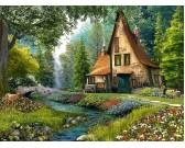Puzzle Kunyhó mélyen az erdőben