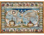 Puzzle Világtérkép 1639-ből