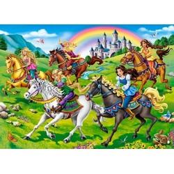 Puzzle Hercegnők lovakon - GYEREK PUZZLE