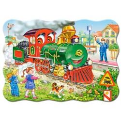 Puzzle Zöld mozdony - GYEREK PUZZLE