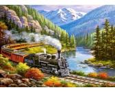 Puzzle Vonat a sasok völgyében - GYEREK PUZZLE