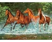 Puzzle Futó lovak a folyóban - GYEREK PUZZLE